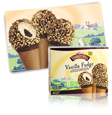 Turkey Hill Vanilla Fudge Sundae Cones