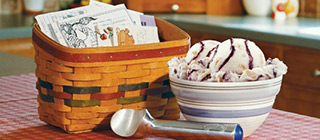 Recipe basket ice cream